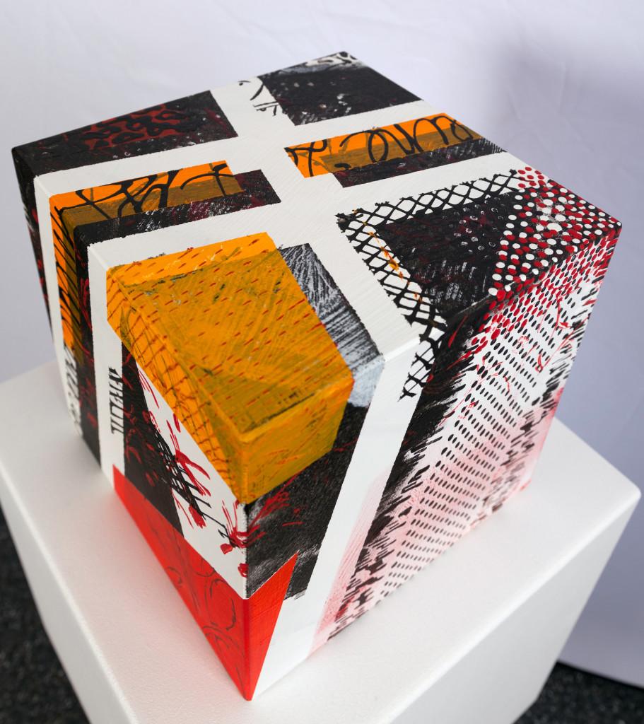 cube 4a acryl auf mdf holz 20x20cm art spot vienna. Black Bedroom Furniture Sets. Home Design Ideas